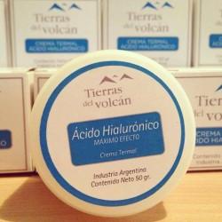 Tierras del Volcan crema termal ácido hialurónico x 50 gr.