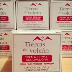 Tierras del Volcan crema termal renovadora (células madres vegetales + resveratrol x 50 g