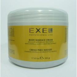 BioCosmética Exel Crema para Masajes con Centella Asiática 500 gr.