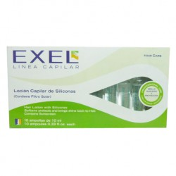 BioCosmética Exel Loción Capilar de Siliconas x 10 Amp.