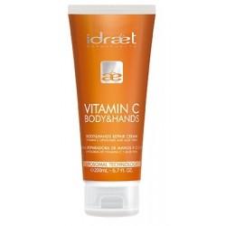 Idraet Crema Reparadora de manos y cuerpo con Vitamina C 200ml
