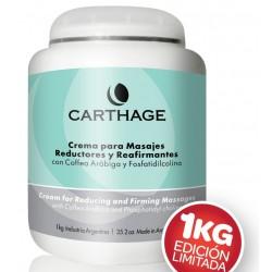 Carthage CREMA PARA MASAJES REDUCTORES Y REAFIRMANTES x 1 kg EDICIÓN LIMITADA