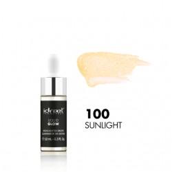 Idraet Pro MakeUp - LIQUID GLOW DROPPER - Iluminador Líquido HD - LG100 SUNLIGHT x 10 g