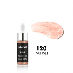 Idraet Pro MakeUp - LIQUID GLOW DROPPER - Iluminador Líquido HD - LG120 SUNSET x 10 g