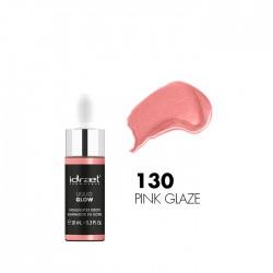 Idraet Pro MakeUp - LIQUID GLOW DROPPER - Iluminador Líquido HD - LG130 PINK GLAZE x 10 g