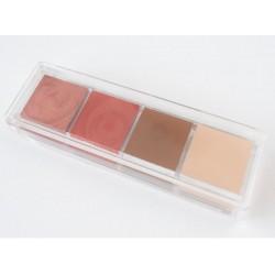 Mila Set Contouring- Blush-Highlight -Contorno-Rubor- Iluminador Estuche acrilico 4 uni x 5 g