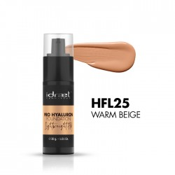 Idraet Pro MakeUp - PRO HYALURON LIGHTWEIGHT - Base Fluida HD - Tono HFL25 Warm Beige